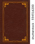 Small photo of Brown leather book cover