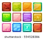 set of cartoon square buttons...