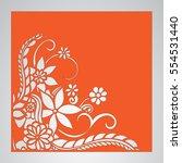 die cut card. laser cut vector... | Shutterstock .eps vector #554531440