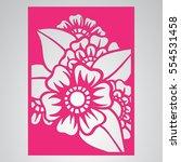 die cut card. laser cut vector... | Shutterstock .eps vector #554531458