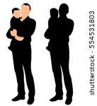 vector isolated silhouette of a ... | Shutterstock .eps vector #554531803