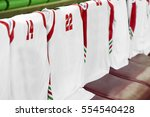 basketball team bench with... | Shutterstock . vector #554540428