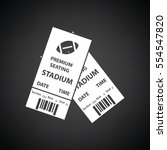 american football tickets icon. ... | Shutterstock .eps vector #554547820
