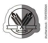 isolated wheat ear design | Shutterstock .eps vector #554550064