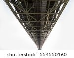 under the steel bridge... | Shutterstock . vector #554550160