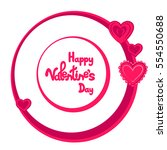 happy valentine's day. greeting ... | Shutterstock .eps vector #554550688