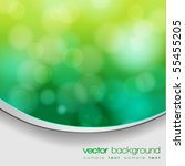 eps 10 green bokeh abstract... | Shutterstock .eps vector #55455205