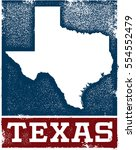 vintage style texas state sign | Shutterstock .eps vector #554552479
