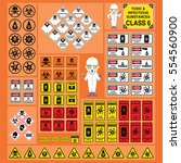dangerous goods and hazardous... | Shutterstock .eps vector #554560900