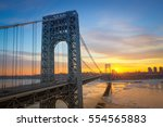 Sunrise at George Washington Bridge from New Jersey