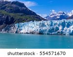 margerie glacier flows down out ... | Shutterstock . vector #554571670