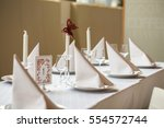 weeding table with glasses... | Shutterstock . vector #554572744