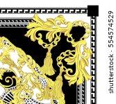 scarf print design | Shutterstock . vector #554574529