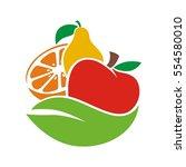 fruit juice leaf | Shutterstock .eps vector #554580010