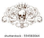 vintage decorative element... | Shutterstock .eps vector #554583064