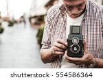 out of camera film. cropped... | Shutterstock . vector #554586364