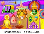 vector illustration of india... | Shutterstock .eps vector #554588686