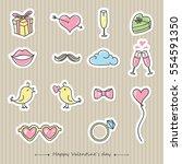 happy valentine's day card.... | Shutterstock .eps vector #554591350