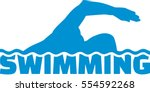 swimming with silhouette | Shutterstock .eps vector #554592268