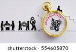 """human capital"" words on pocket ... | Shutterstock . vector #554605870"