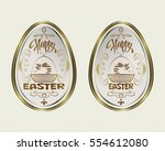design with easter egg with... | Shutterstock .eps vector #554612080