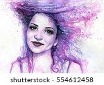 abstract watercolor...   Shutterstock . vector #554612458