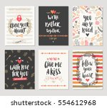vector set of valentine's day... | Shutterstock .eps vector #554612968