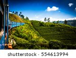 train from nuwara eliya to... | Shutterstock . vector #554613994