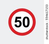 Traffic Sign Speed Limit 50