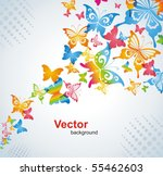 Stock vector colorful background with butterfly vector 55462603