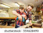 family  carpentry  woodwork and ... | Shutterstock . vector #554628490