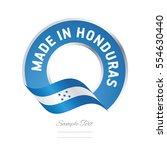 made in honduras flag blue... | Shutterstock .eps vector #554630440