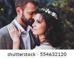 sensual portrait of couple... | Shutterstock . vector #554632120