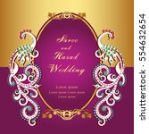 vintage invitation and wedding... | Shutterstock .eps vector #554632654