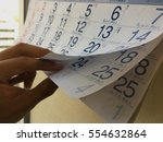 months and dates shown on a... | Shutterstock . vector #554632864