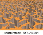 abstract pattern turned into... | Shutterstock .eps vector #554641804