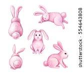 watercolor illustration  cute... | Shutterstock . vector #554643808