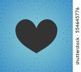 black hypnotic heart  blue...   Shutterstock .eps vector #554645776