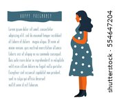 vector illustration of pregnant ... | Shutterstock .eps vector #554647204