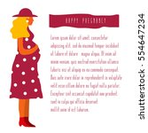 vector illustration of pregnant ... | Shutterstock .eps vector #554647234
