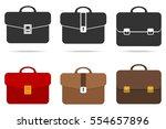 briefcase  set of briefcase ...   Shutterstock .eps vector #554657896