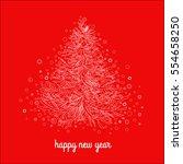 christmas tree for your design...   Shutterstock .eps vector #554658250