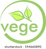 vegetarian  icon  vector ... | Shutterstock .eps vector #554660890