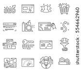 website promotion  seo icons... | Shutterstock .eps vector #554662960