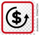 refund intensive red and black... | Shutterstock .eps vector #554667514