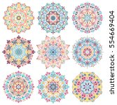 mandala vector design elements. ... | Shutterstock .eps vector #554669404