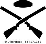 crossed trap shooting gun | Shutterstock .eps vector #554671153