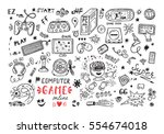 gadget icons vector set. hand...   Shutterstock .eps vector #554674018