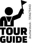 tour guide pictogram | Shutterstock .eps vector #554675443