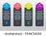 vector infographics template... | Shutterstock .eps vector #554676034